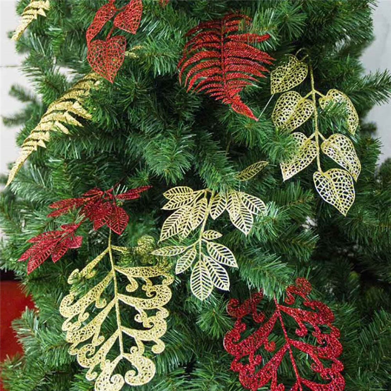 Christmas Leaf Name.Pack Christmas Ornaments Decoration Flower Grass Hollow Discharge Class Simulation Fake Flower Leaf Christmas Tree Decor Cheap Christmas Decorations