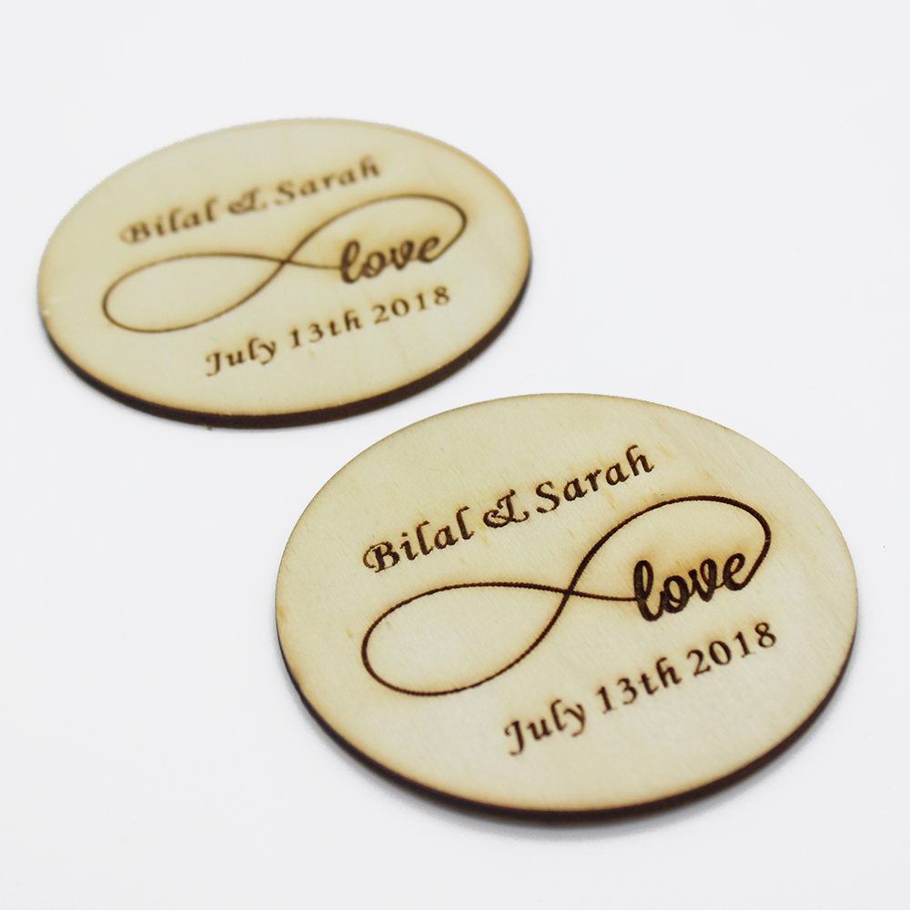 1 Set Of Personalized Coasters, Wedding Gift Wooden Coasters ...