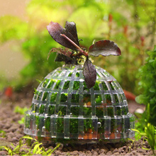 1 шт. Пластик аквариумные украшения живых растений аквариума медиа мох мяч фильтр для аквариума водные питомцы минеральными шариками украшения
