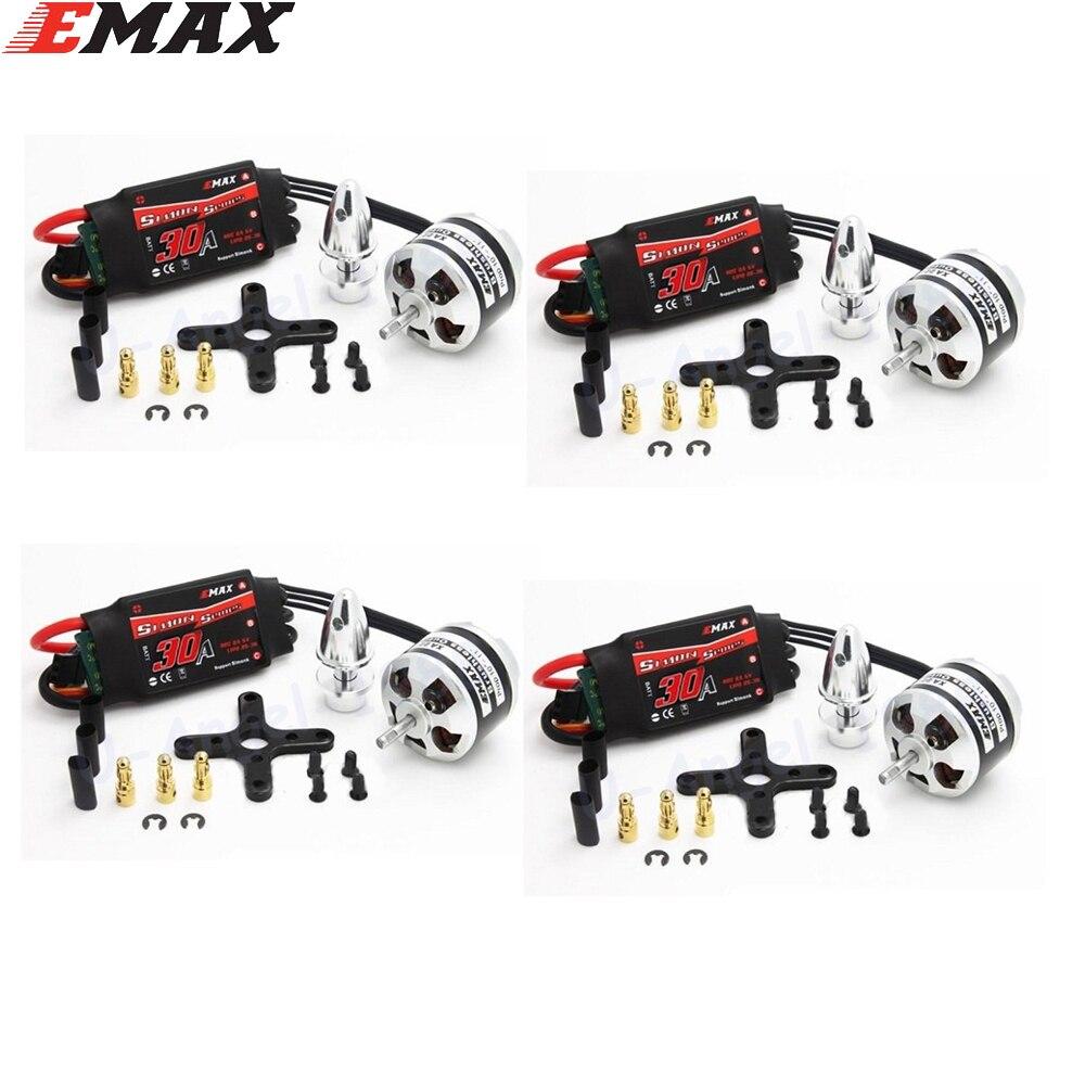4 مجموعة/وحدة EMAX XA2212 820KV 980KV 1400KV المحرك مع EMAX Simonk 20A/30A ESC مجموعة ل RC نموذج ل f450 F550 أجهزة الاستقبال عن بعد-في قطع غيار وملحقات من الألعاب والهوايات على  مجموعة 1