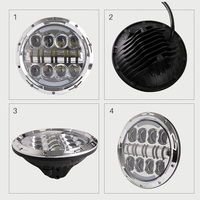 7'' inch headlight H4 motorcycle Round Led Headlamp hi low beam Head Light Bulb DRL For harley JEEP Wrangler