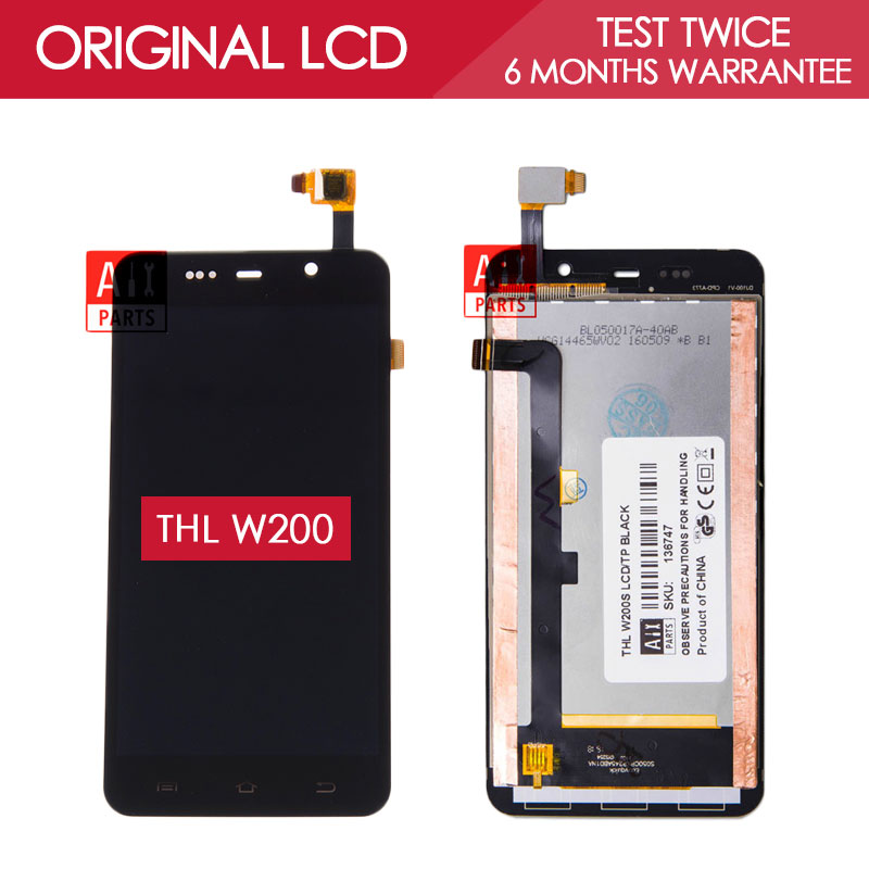 100 Original TESTED 5 0 inch 1280x720 Display For THL W200 W200S W200C LCD With Touch