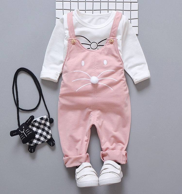 70f33ce91 2019 Spring Newborn Baby Girls Clothes Sets Fashion Suit T Shirt + ...