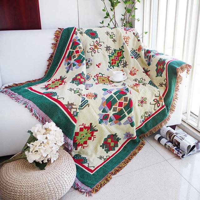 Thickening geometry throw blanket christmas decorative - Manta para sofa ...