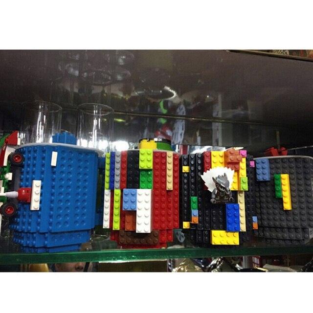 1Pc 12oz Build-On Brick Mug Type Building Blocks Coffee Cup DIY Block Puzzle Mug Portable Drinkware Drinking Mug 4 Colors 6