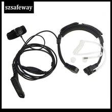 Cuffie microfoniche walkie talkie Air Tube per Motorola xirp8268apx2000 APX6000 APX6500 APX7000 DP3600