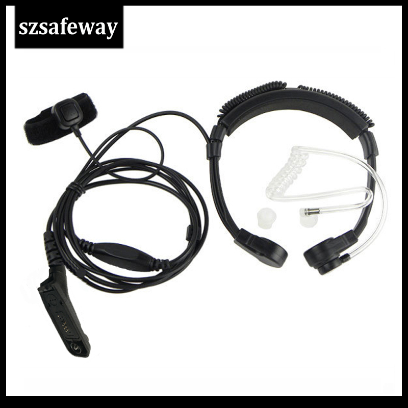 Walkie Talkie Handsfree Throat Mic Headset With Extendable Neckband For Motorola APX2000 APX4000 APX6000 APX6500 APX7000