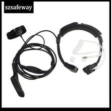 Walkie talkie tubo de ar garganta mic fone de ouvido para motorola xir p8268apx2000 apx6000 apx6500 apx7000 dp3600
