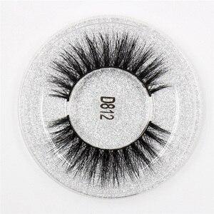 Image 5 - LEHUAMAO 50 זוגות ריסים מלאכותיים 3D מינק ריסים 100% בעבודת יד עין ריסים נדל מינק איפור עבה מזויף False ריסים משלוח DHL