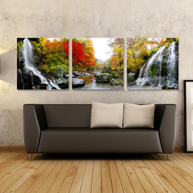 Free Shipping 3panels Landscape Canvas Painting Home Decor