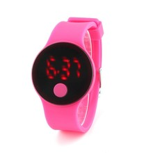 2016 Fashion candy colors LED Electronic Watch Women Jelly silicone watch Innovative Design Digital Display sport wristwatch Hot