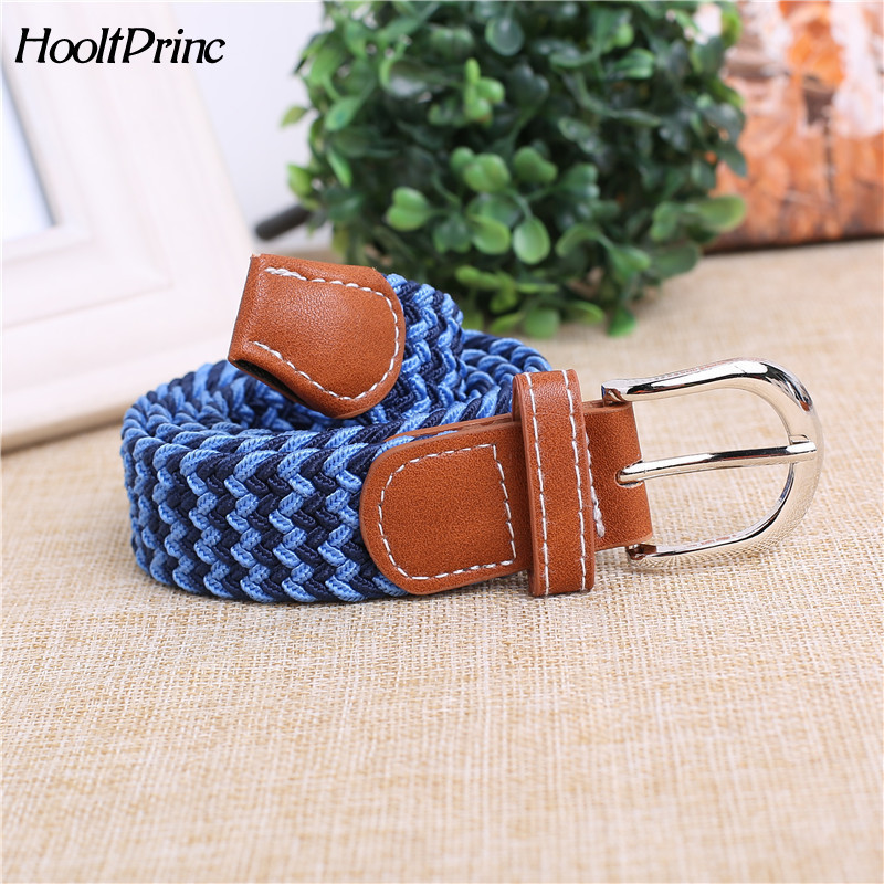 Korean Fashion Children   Belt   boy Girl Show Elastic all-match   belt   Child Waist pin buckle   Belt   Military Training   Belt