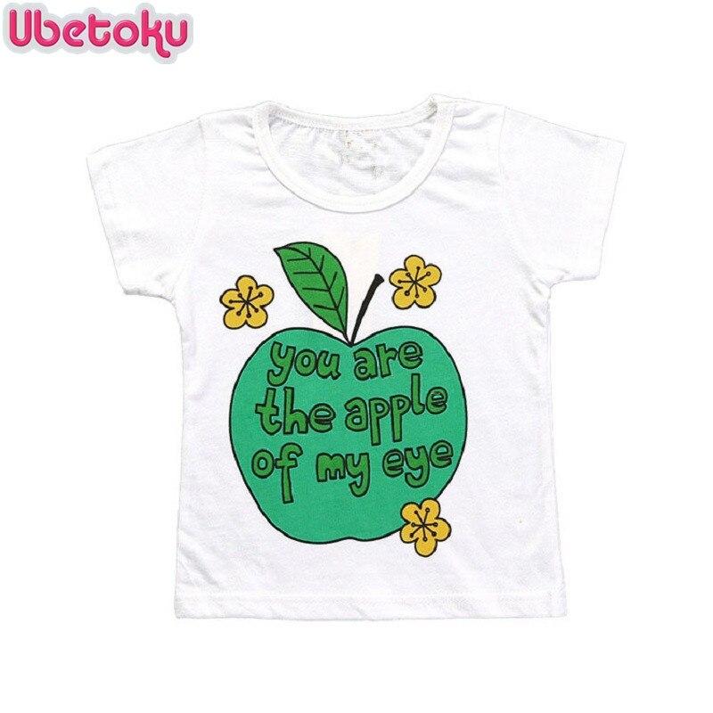 Ubetoku Summer Baby T Shirts boy girls Cotton Short Sleeve tshirt Kids cute Print Tees Tops Girl T-shirt