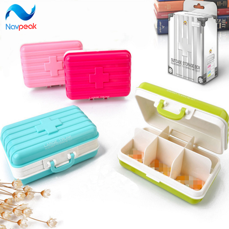 Navpeak 10pcs/lot Vitamin Pill Organizer Holder Portable Week Pill Medicine Tablet Holder Box Case Medicine Storage container