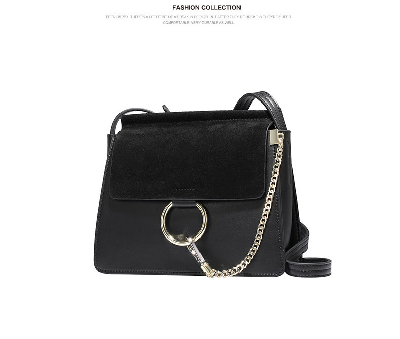 100% Genuine Leather Women Shoulder Bags Famous Brand Metal Ring Chains Women Crossbody Bags Retro Natural Leather Lady Handbag (20)