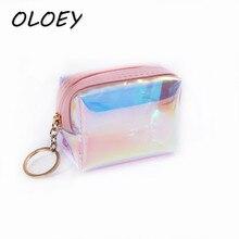 Colorful Laser women bags Tassel Mini Purse Press Buckle Transparent Makeup Bags Envelope Wallet Clutch Handbag