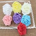 2017 nova 1 pacote de 7 pcs 8 cm multicolor artificial espuma rose flor handmade diy casamento casa festa decoração da casa de artesanato decoração livre dy657