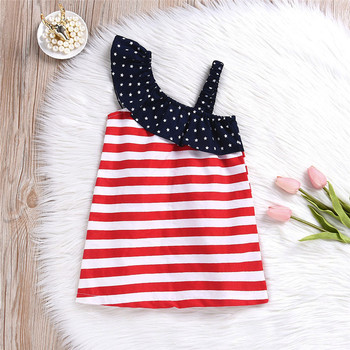 Baby Girls Infant Kids 4th Of July Star Dress Clothes Sundress Casual Sets T# 2