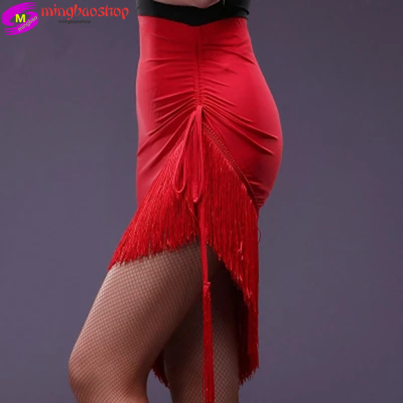 Fringe Latin Salsa Tango Rumba Cha Cha Ballroom Dance Dress Skirt Square Dance Red Black Latin Clothes Women Latin Dance Dress 9