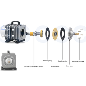 Image 5 - 450L/min 520W SUNSUN ACO 016 ACO016 Elektromagnetische Luft Kompressor luftpumpe für aquarium aquarium aquakultur