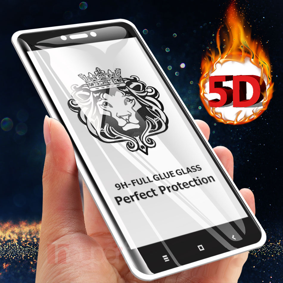 5D Tempered Glass For Xiaomi Redmi Note 4X Note 4 Glass Screen Protector Full Cover Flim For Xiaomi Redmi 4X Glass