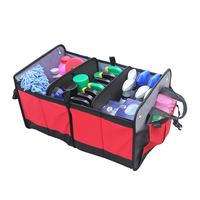 Auto Rear Rack Stowing Tidying Box Foldable Storage Bag Car Wash Maintenance Supplies Child Toy Organizer Interior Accessories