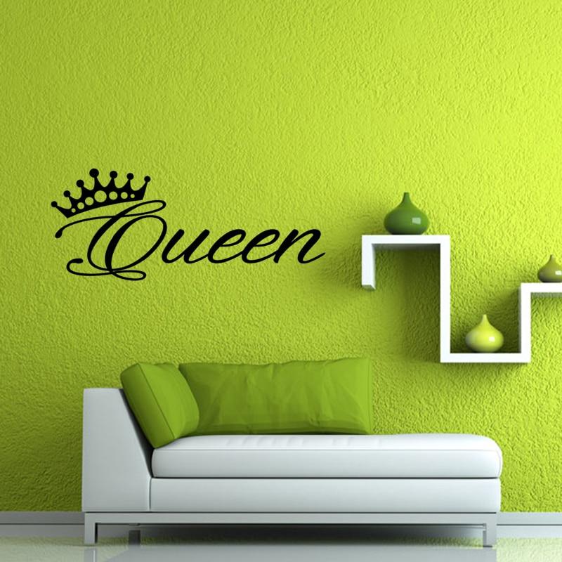 Vinyl Wall Decal Stickers Living room Bedroom Decor Words Queen