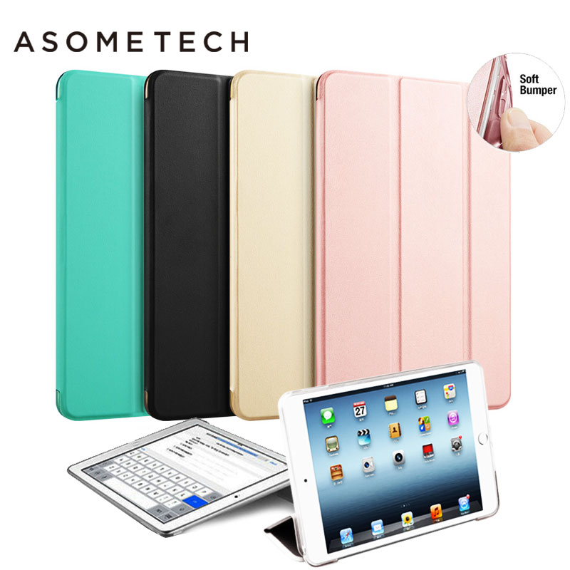 Hot Mini 4 PU Leather Case cover auto Sleep Wake Up Holder Protective Smart Stand Flip Cover shell for iPad Mini 4 A1538 tablets
