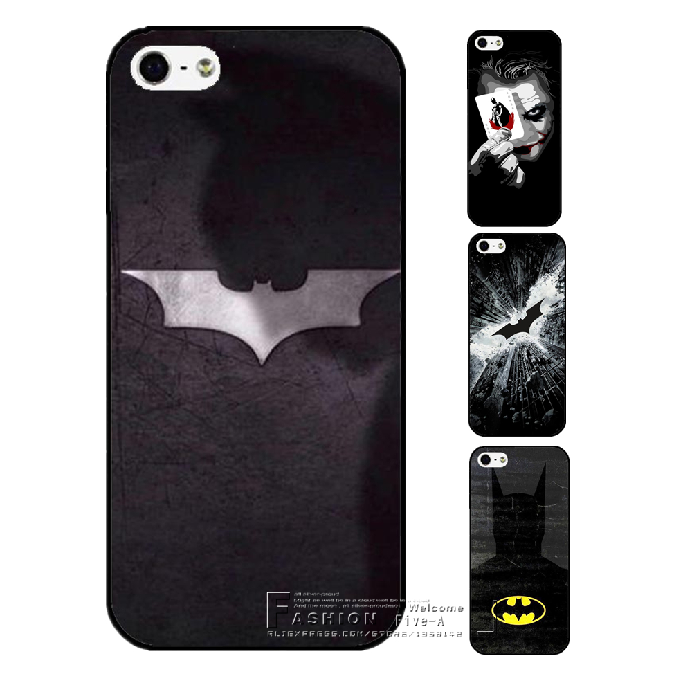 Plata caja del teléfono para apple iphone 4 4s 5 5s batman SÍ 5C 6 6 S 7 Plus Vi