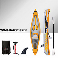 AQUA MARINA TOMAHWAK Inflatable Boat PVC Rowing Boat Sports Kayak With Paddle Double Persons Paddle Canoeing 425*78cm