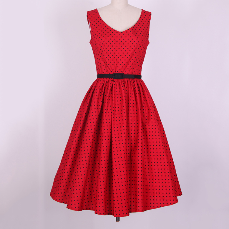 Compare Prices on Red Polka Dot Dress- Online Shopping/Buy Low ...