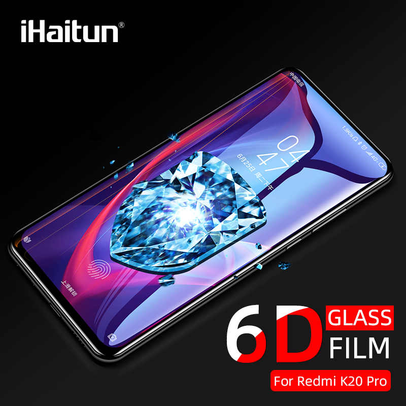 iHaitun Luxury 6D Glass For Xiaomi Redmi K20 Pro Curved Tempered Full Cover Screen Protector Film