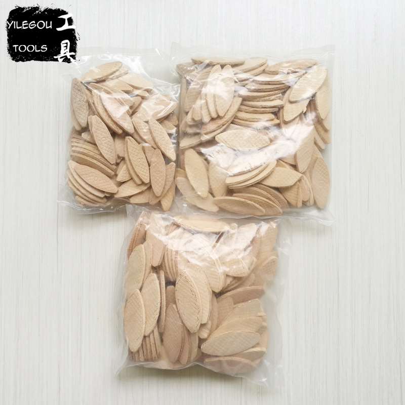 Tenon 100 Pieces Joiner Biscuit 0# (47*15*4mm) Dowels 10# (53*19*4mm) Joining Plates 20# (56*23*4mm) Splines