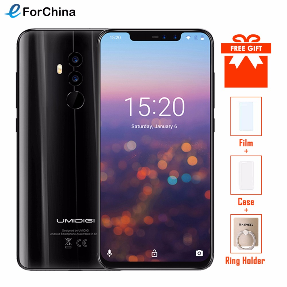 UMIDIGI Z2 Helio P23 2.0GHz Octa core Smartphone 6.2 6GB RAM 64GB ROM 16MP+8MP Four Cameras Fingerprint 4G Cell phone Face ID