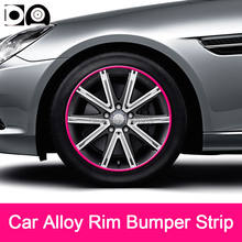8 metri In Lega Auto Wheel Rim Paraurti Striscia di protezione ruota per BMW X1/X3/X5/X6 1 /2/3/4/5/6/7-Series M2/M3/M4/ m6 i3/i8 Z4