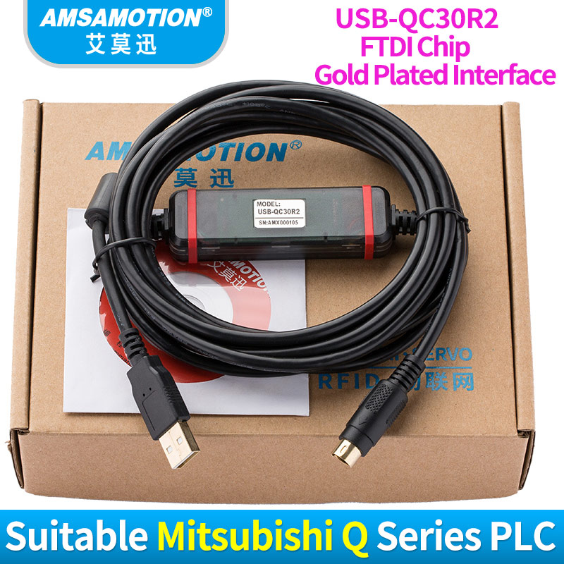 USB-QC30R2 Download Line Suitable Mitsubishi Q Series PLC Programming Cable цена