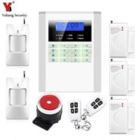 LCD Screen Keyborad 433mhz GSM PSTN Alarm System Home Security Quad Band GSM Alarm Panel With