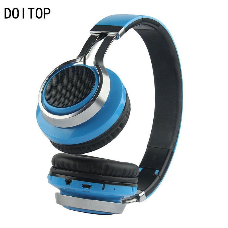DOITOP BT Headphone Support FM TF Card TM-021 Wireless Stereo Headset LED Flash Headphone Foldable Earphone For Phone MP3/MP4