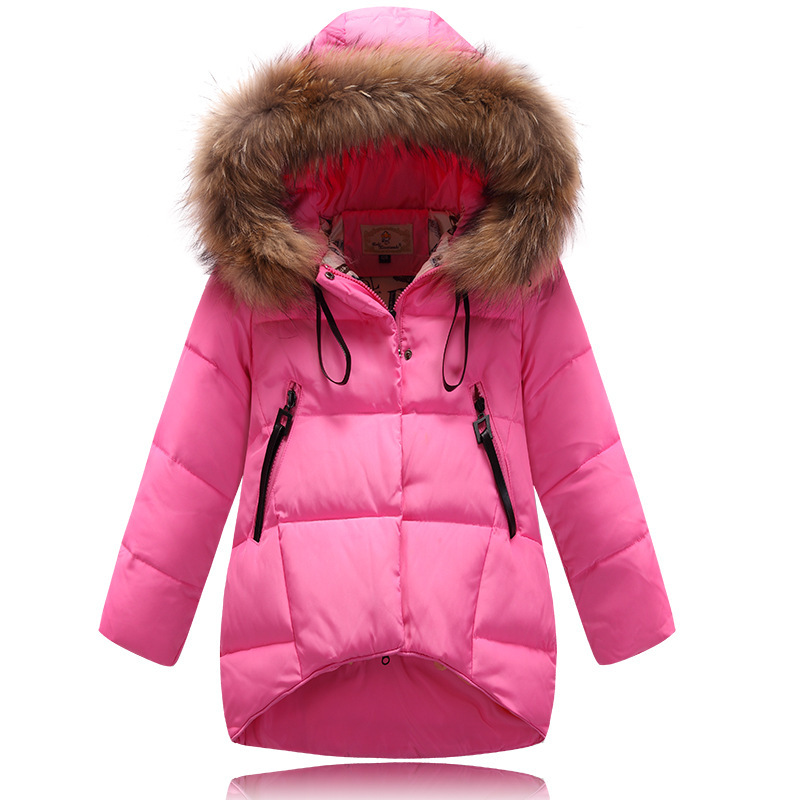 Newest Fashion Girl down Jackets Coats Winter warm 2015 baby girl thick duck Down Kids jacket Children Outerwears cold winter recliner