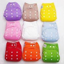 1 unids reutilizable infantil del bebé Nappy pañales de tela suave fundas lavables tamaño libre Fraldas ajustables invierno verano versión