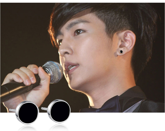 OMHXZJ Wholesale Charm men Fashion handsome boy jewelry black Agate REAL S 925 STERLING SILVER STUD EARRINGS YS87-in Earrings from Jewelry & Accessories on Aliexpress.com | Alibaba Group
