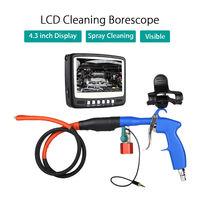 Blueskysea 4,3 HD ЖК дисплей Дисплей 480 P видео 360 градусов Камера IP68 Очистки 50 мм бороскоп DVR светодиодный 1000TL труба инспекции спрей
