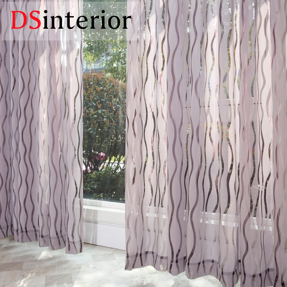DSinterior Modern Sheer Curtain For Living Room