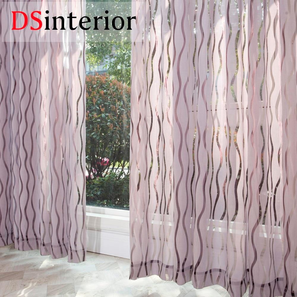 DSinterior moderna cortina transparente para sala de estar