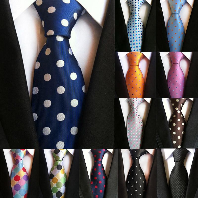 Vintage Mens Ties 8cm Formal Dress Necktie Causal Dot Tie Bussines Wedding Silk Corbatas Bridegroom Party Ties for Men Men Gift