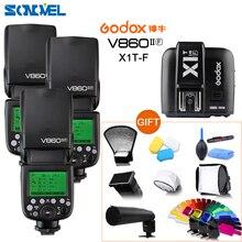 3x Godox Ving V860II-F Kamera flash + X1T-F Sender TTL HSS 1/8000 Li-Ion Batterie Flash Speedlite Für Fujifilm Fuji X-E3 x-E2