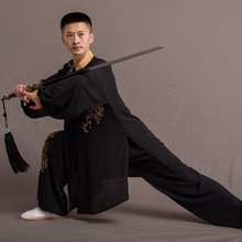 Chinese Warrior Costume Bruce Lee Costume 2019 New Arrival Wushu Kung Fu Uniform Traditional Tang Suit Tai Chi Clothing TA1512(China)