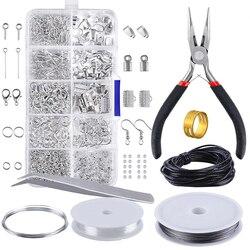 Набор для изготовления ювелирных изделий, набор для ремонта сережек и ожерелья, инструменты для самостоятельного ремонта, аксессуары для к...