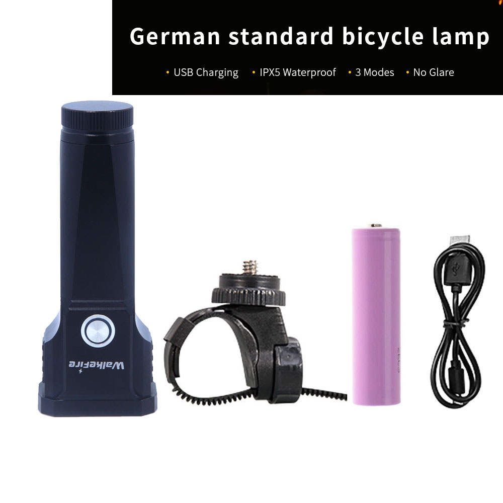 WalkeFire New USB Charging XML T6 Led Bicycle Bike Light Front Lamp Waterproof Flashlight Torch For Cycling Use 18650 Battery