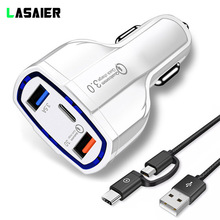 USB Car Charger 5V 3.5A QC3.0 Turbo Fast Charging Adapter Qu